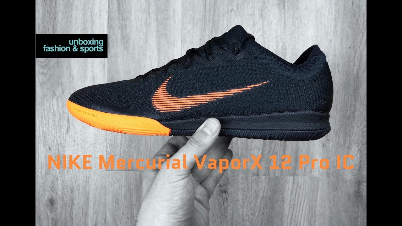 outlet store ede34 fdfcc Nike Mercurial VAPORX 12 Pro IC 'Black/tote OR' | UNBOXING & ON FEET |  football boots | 2018 | 4K