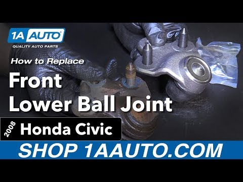 How to Replace Front Lower Ball Joint 06-11 Honda Civic