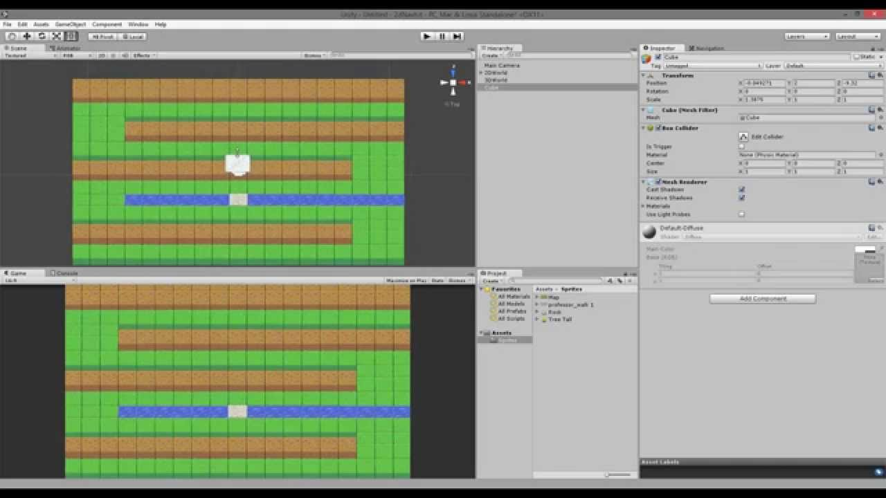 Unity Tutorial: How to use Unity NavMesh with animated 2D sprites