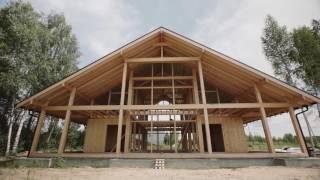 видео Построить деревянный зимний дом из бруса и оцилиндрованного бревна