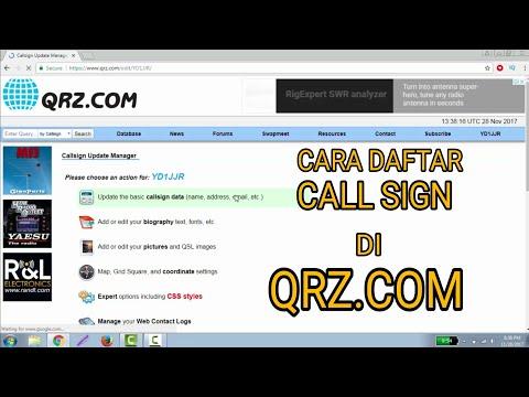 Cara Daftar Di QRZ.com