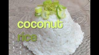 Coconut Rice Thai Style Thermochef Video Recipe Demo