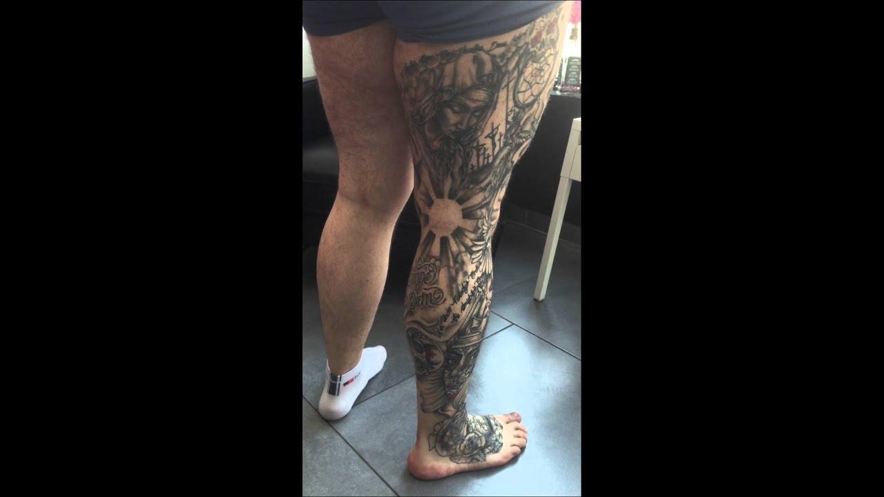 Full leg tattoo youtube for Pictures leg tattoos