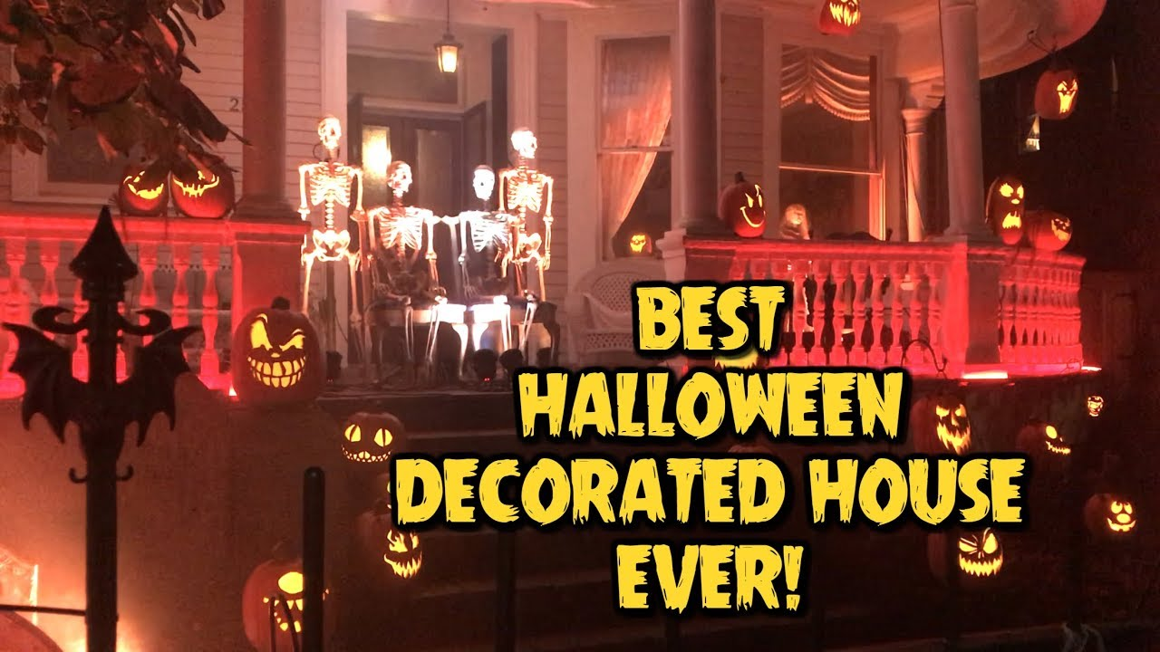 The BEST Halloween Decorated House EVER