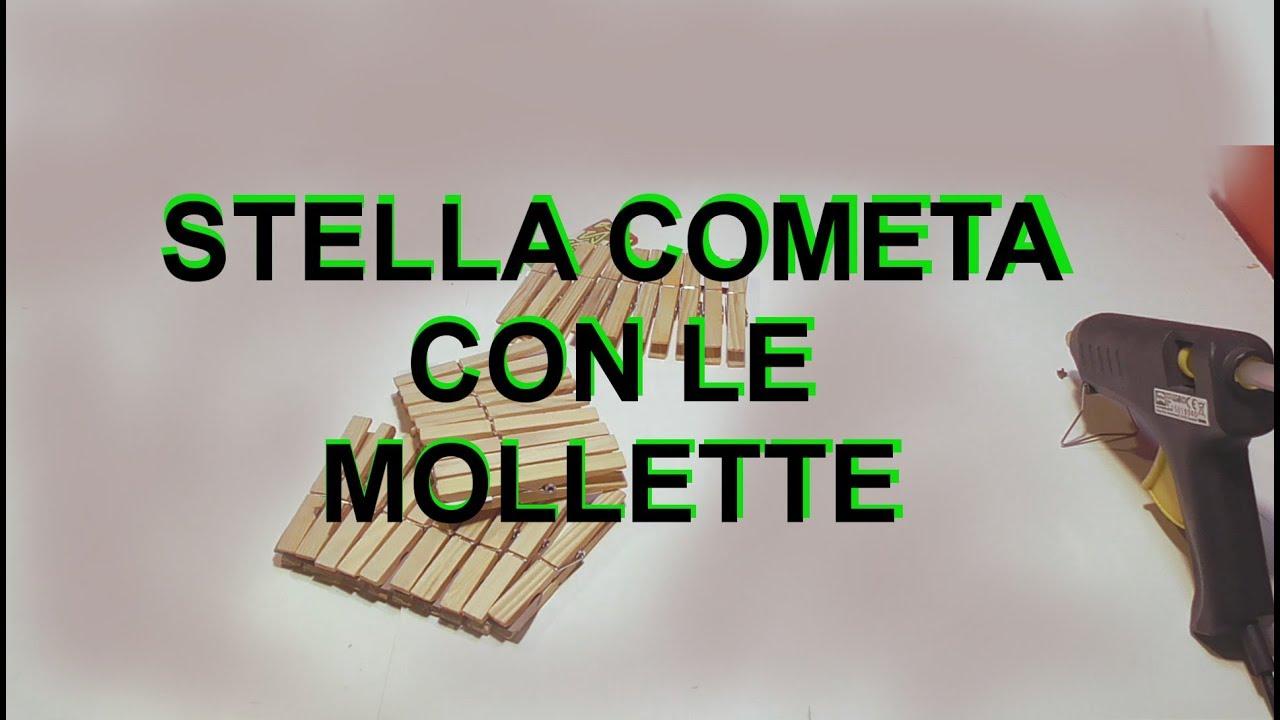 Lavoretti Di Natale Una Stella Con Mollette.Riciclare Mollette In Legno Stella Cometa