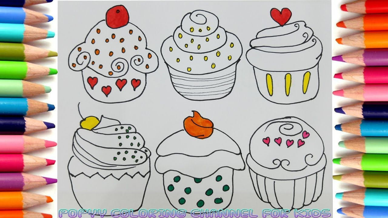 how to color this cupcake coloring pages art colours book pages