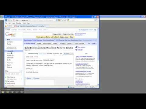 Reset the Admin Password in QuickBooks