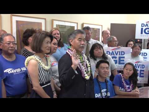 David Ige Officially Enters Race for Governor of Hawaii