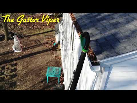 The Gutter Viper Leaf Blower Attachment Cleans High Gutters