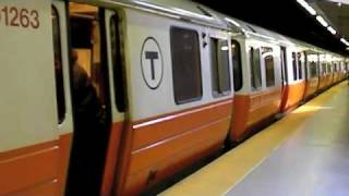 MBTA Orange Line at Back Bay and Downtown Crossing