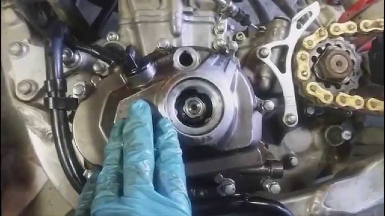 how to change timing chain and set timing on a yz450f