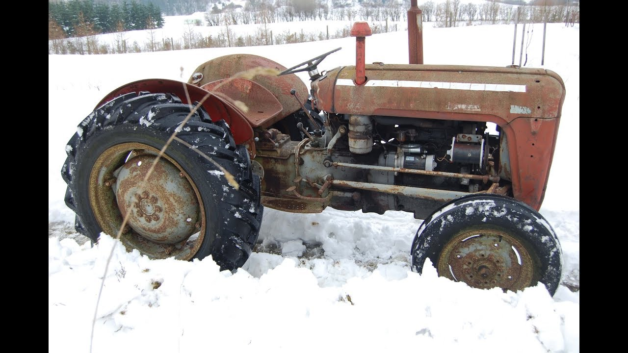 massey ferguson 35 mf 35 tractor restoration project part 1 youtube rh youtube com Ford 1210 Tractor Craigslist Ford 1220 Tractor Parts