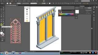tutorial window isometric illustration