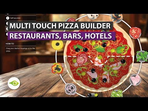 🍕 TOUCH PIZZA | How To Build Your Own Custom Pizza On Interactive Touchscreen Table 😱