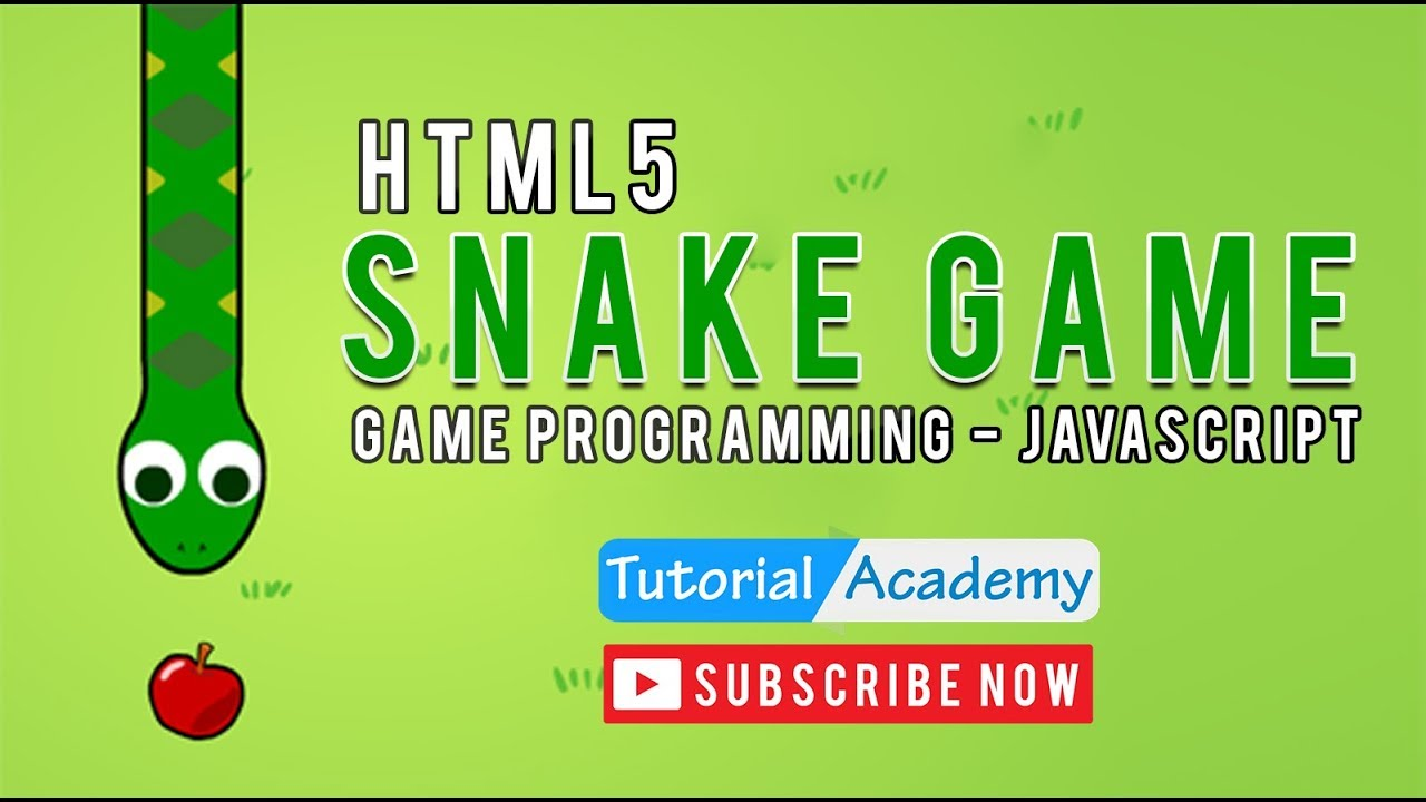 How to create snake game using html game. Programming tutorial.