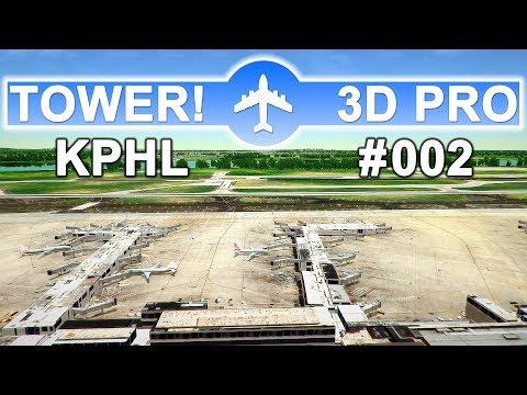 ✈TOWER!3D PRO • PHILADELPHIA (KPHL) • GO-AROUND AAL2499 • (#002 DEUTSCH)✈