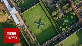 Richard Long's stone sculptures at Houghton Hall   BBC News