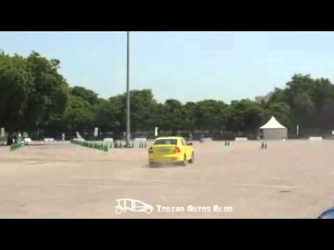 Skoda Laura RS stunts at Delhi launch