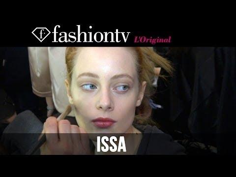 Karolina Kurkova at Issa Fall/Winter 2014-15 Backstage | London Fashion Week LFW | FashionTV