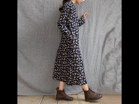 Одежда с AliExpress. Длинное полосатое платье свободного кроя больших размеров 2018.из YouTube · Длительность: 1 мин4 с