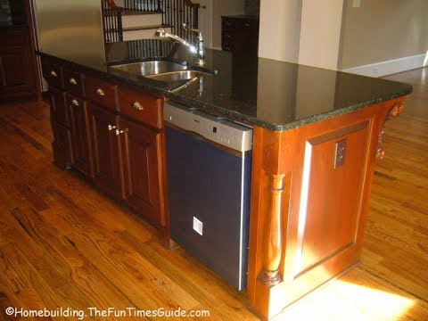 Kitchen Islands With Sink And Dishwasher - YouTube