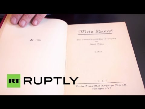 USA: Hitler's personal copy of Mein Kampf to go on sale at auction in Maryland