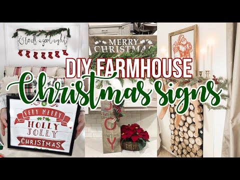 6 EASY CHRISTMAS SIGNS DIY  Episode 3
