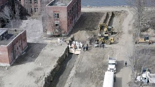Mass burial captured by drone in New York City as morgues pushed to limit