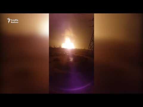 Explosion azerbaijan gas pipe