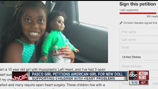 Pasco girl petitions American Girl for new doll supporting children with heart problems