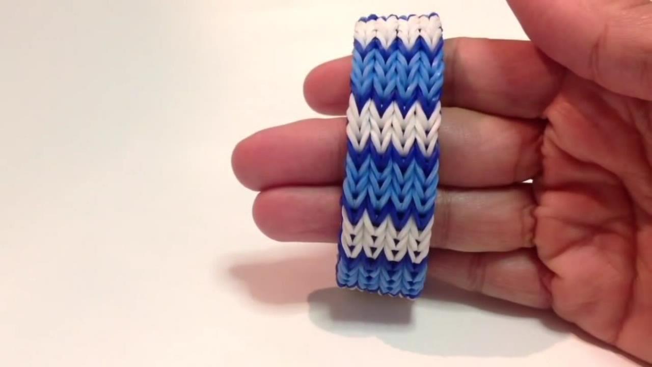 Видео плетения широких браслетов из резинок