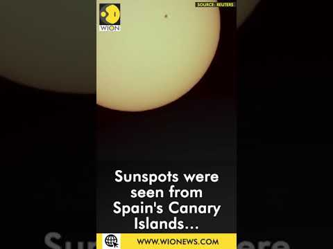 Sunspots seen in Spain's aguimes town as geomagnetic storm expected to reach Earth