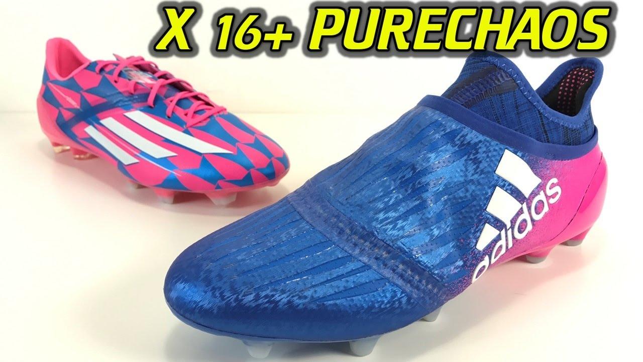 Adidas X 16+ Purechaos (Blue Blast Pack) - One Take Review + On Feet ... bdcbff398b891