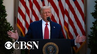 Trump uses Rose Garden address to attack Biden on the economy, China, and immigration
