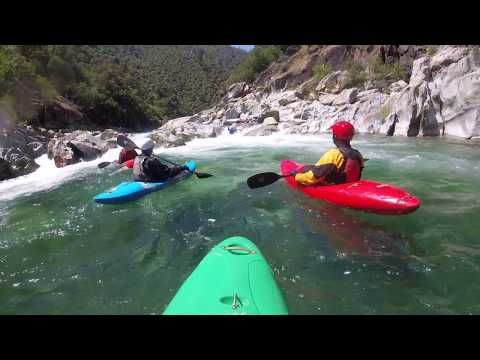 Below the Bogus Thunder Rapid, North Fork American River, 640 cfs, May 2018