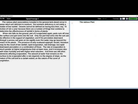 Speed Passage 30 WPM - GCCTBC Universal Typing Master - YouTube