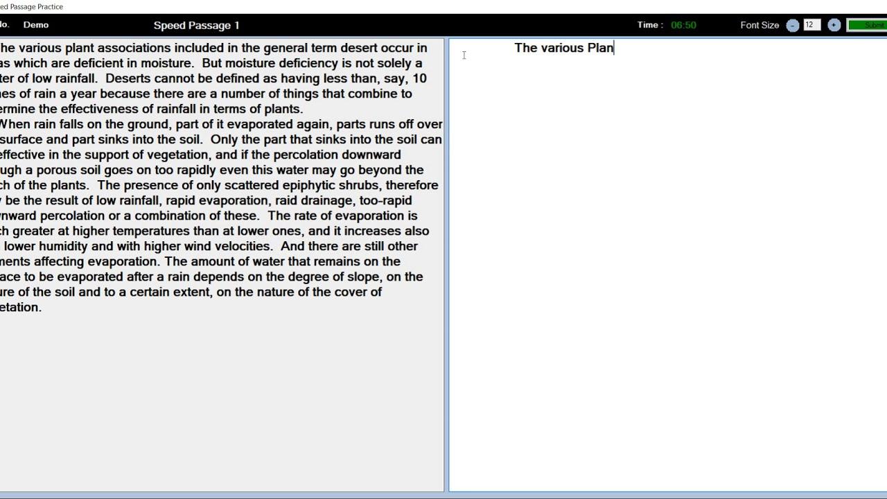 Speed Passage 30 WPM - GCCTBC Universal Typing Master