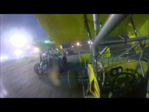 Clay Dow In-Car SCoNE Heat + Feature at Canaan Dirt Speedway 6-8-2012
