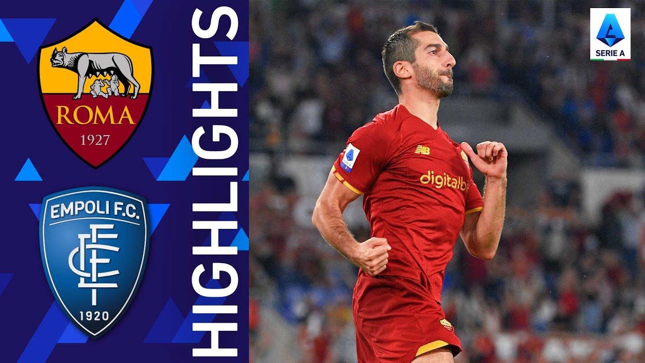 Roma 2-0 Empoli   Roma get back to winning ways   Serie A 2021/22