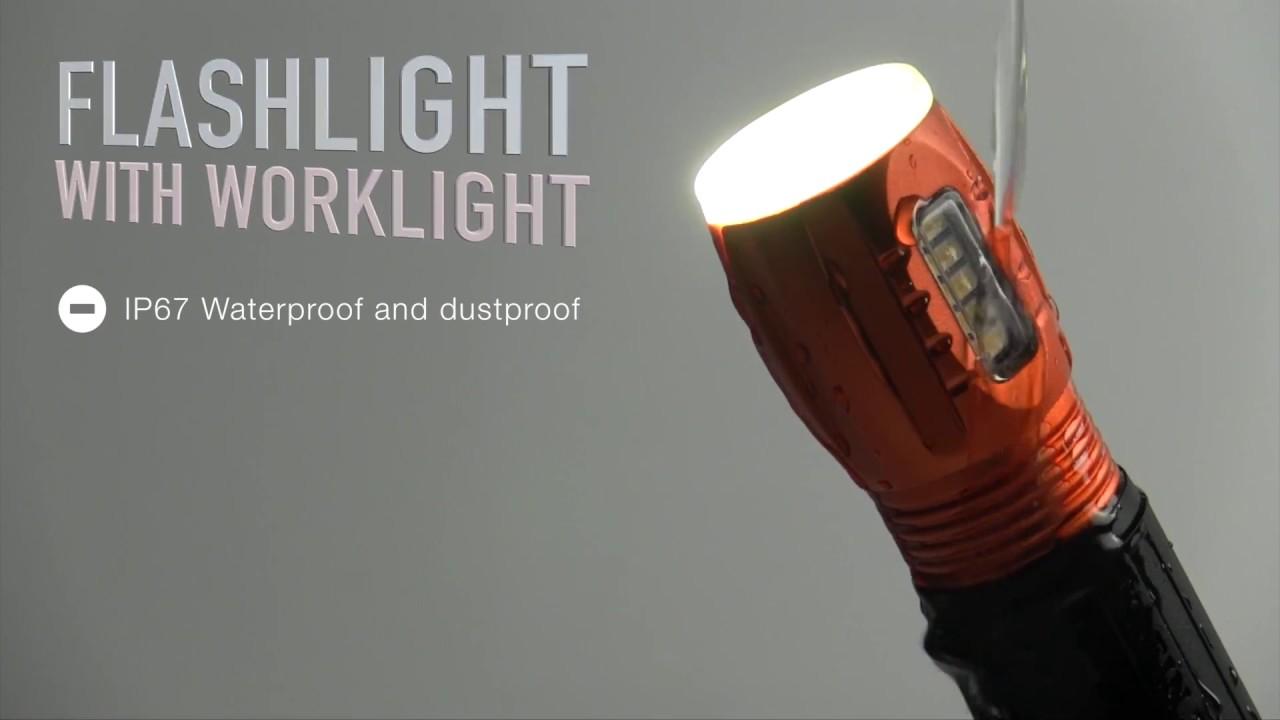 Klein Tools Magnetic 56028 Combo Flashlight Worklight - YouTube