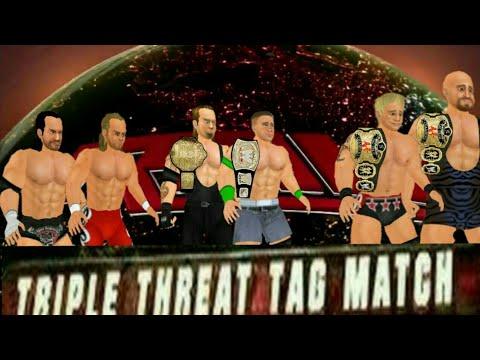 Wr3d Cena And Taker Vs Dx Vs Jeri Show Triple Threat Tag Team