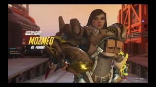 Overwatch Pharah ult quintuple into mercy 5 man res pls no