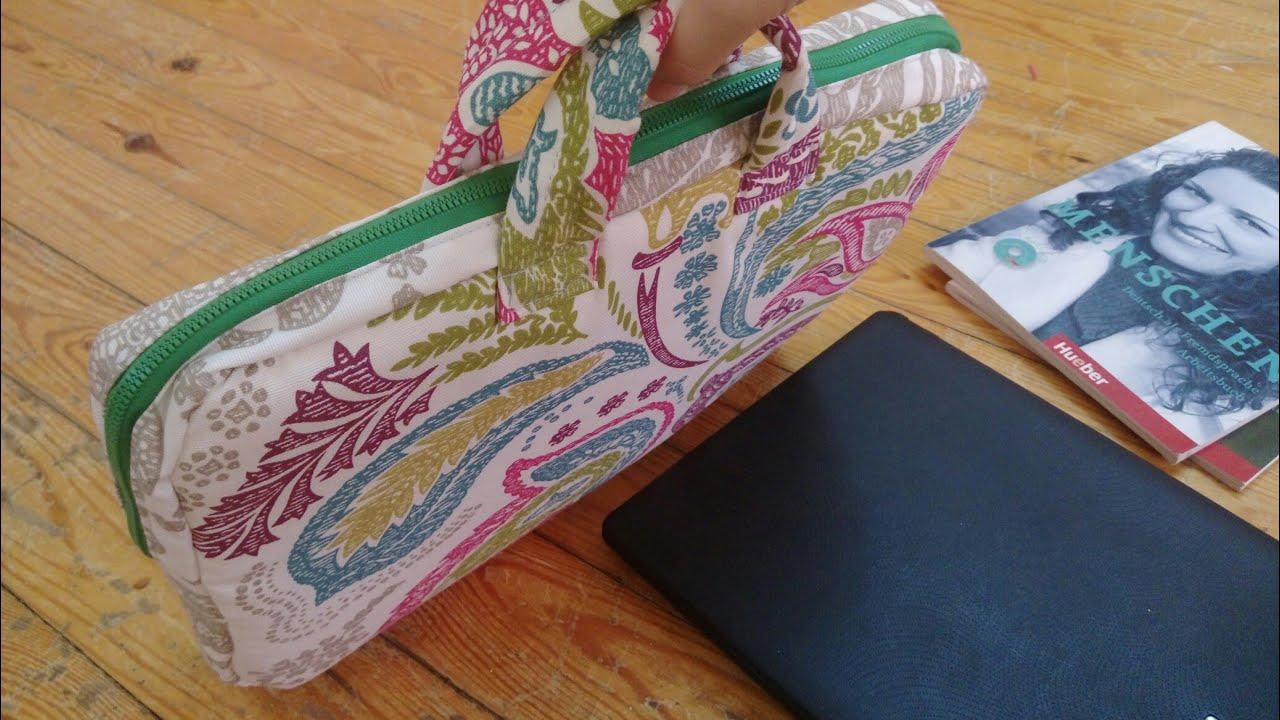 خياطة شنطة لاب توب | Laptop bag sewing tutorial