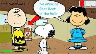 NO DRINKING ROOT BEER IN THE HALLS!! Baldi