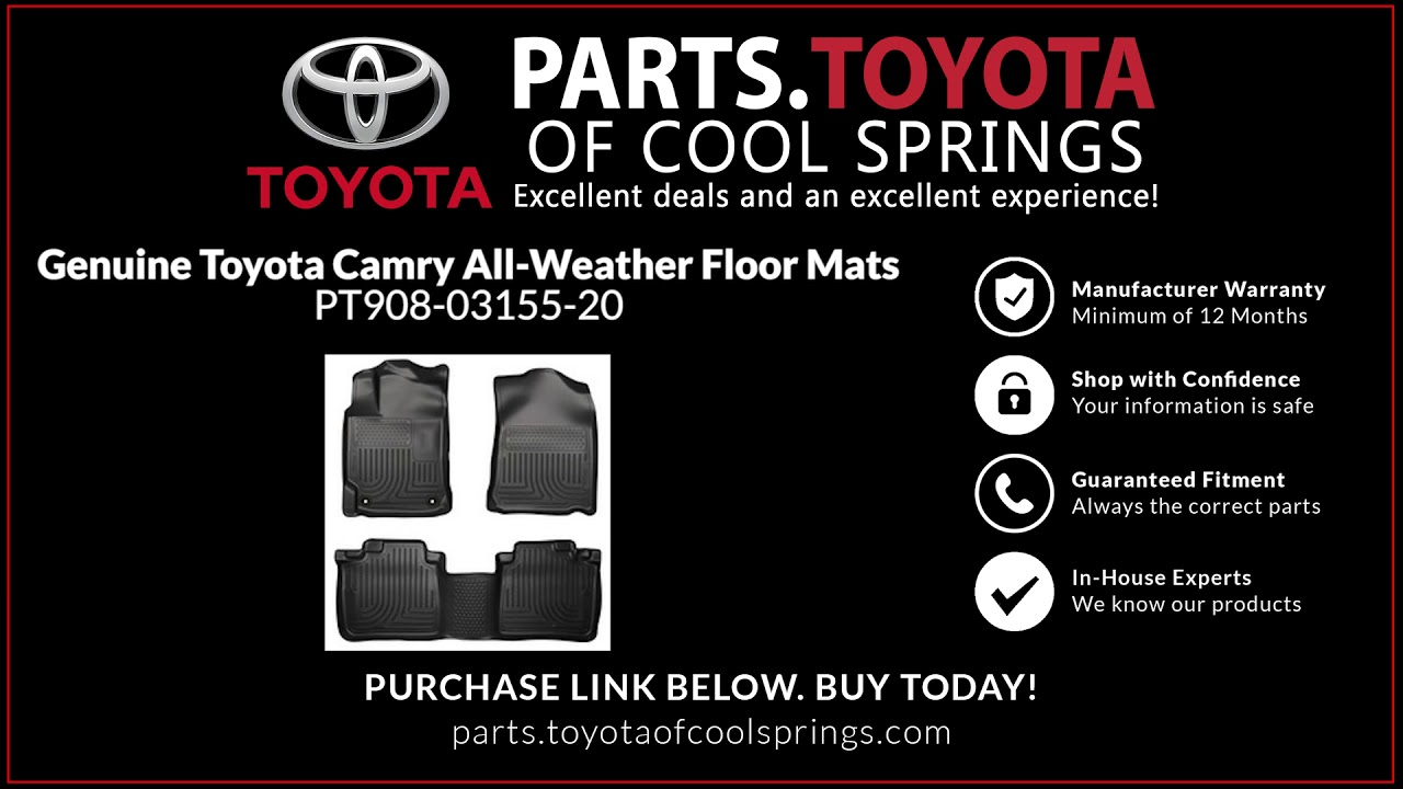 2017 Genuine Toyota Camry All Weather Floor Mats Part Number Pt908 03155 20