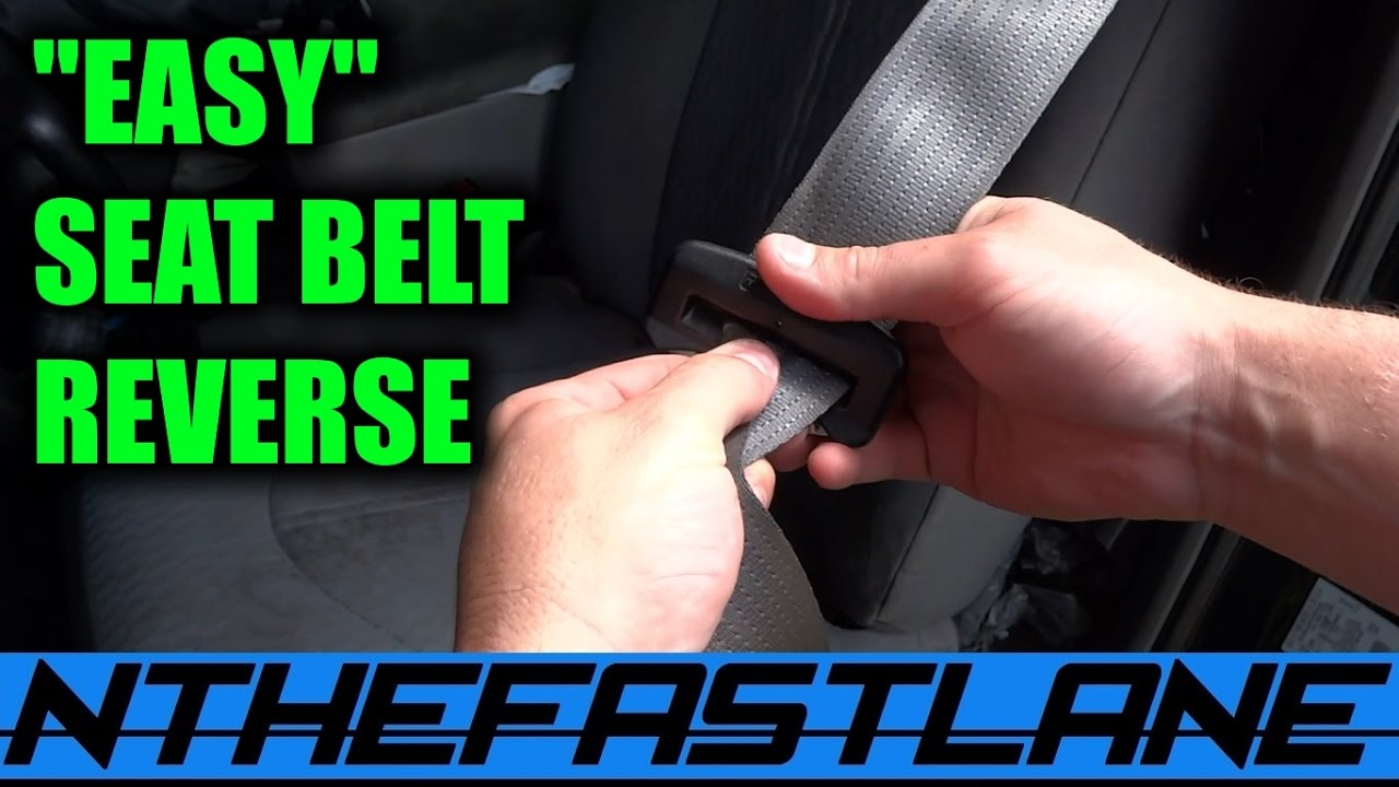 Seatbelt Buckle How To Reverse It Youtube