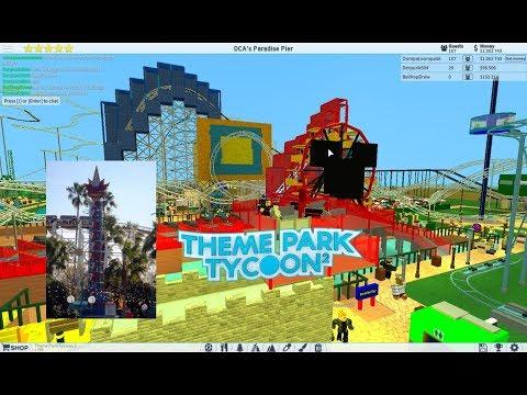 ROBLOX: Rockin' California Screamin' recreation at DCA at Theme Park Tycoon 2 Hydraulic Coaster