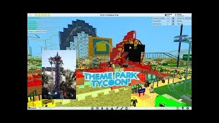 ROBLOX: Rockin' California Screamin' recreation at DCA at Theme Park Tycoon 2 Hydraulic Coaster