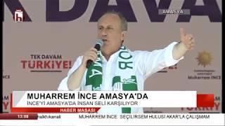 Muharrem İnce Erdoğan'a Amasya'dan seslendi: Batıyoruz, batıyoruz, batıyoruz...