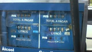Ethanol pumps in Brazil